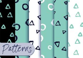 Mint Black Pattern Set