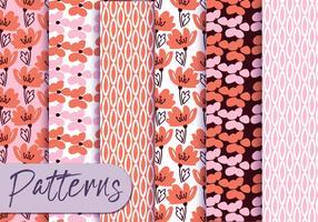 Conjunto de padrões florais Pastel
