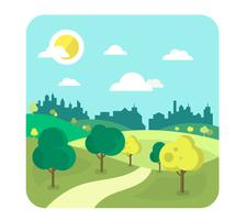 Urban Landscape Design vector