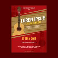 Acoustic Concert Poster Template Vector