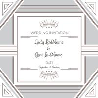 Vector do convite do casamento