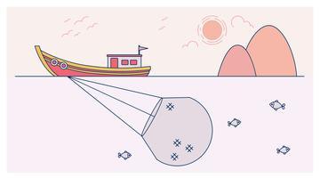 Net Fishing Vector