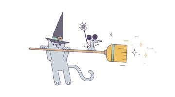 Vetor da varinha mágica da bruxa