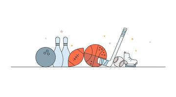 Sports Items Vector