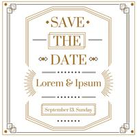 Art Deco Save The Date Vector