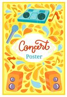 Poster do concerto 2 vetores