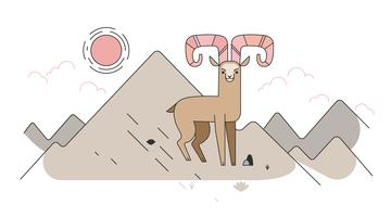 Mountain-goat-vector
