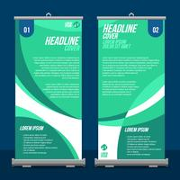 Roll Up Banner Display Mockup Vector