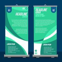 Roll Up Banner Display Mockup Vector