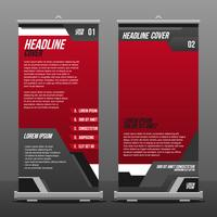 Vertical Flag Banner Template Vector