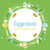 Fundo do feriado do feriado de Easter Spring vetor