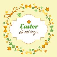 Easter Spring Holiday Vector Background