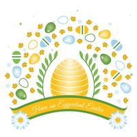 Fond de vecteur de Pâques vacances vecteur