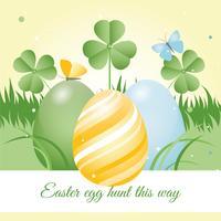Fondo de Vector de vacaciones de primavera de Pascua