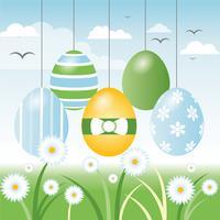 Ostern Frühlingsurlaub Vektor Hintergrund