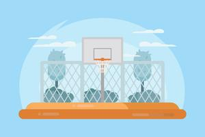 Vecteur de Cour de basket-ball