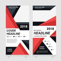 Standee Design Template Vector