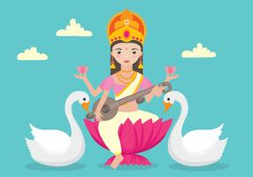 personagem saraswathi withswans