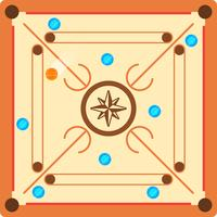 platt carrom arena vektor