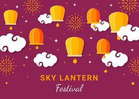 Lantern in the Night Sky Vector