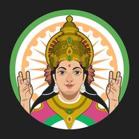 Saraswathi Portrait Vector Illustration