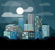 Illustrazione di paesaggio di vettore Design piatto