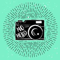 Hand-Drawn Camera Silhouette Vector