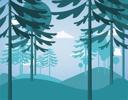 Flache Design-Vektor-Landschaft