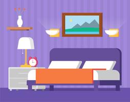 Flat Design Vector Room Design Illustration