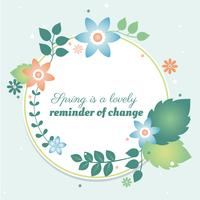 Flat Design Vector Spring Greeting Card Design