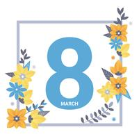 8 mars hälsningskort vektor
