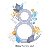 Vector de tarjeta de felicitación del día de la mujer