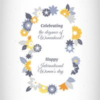 Women's Day Greeting Card Vector