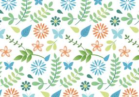 Flat Design Vector Spring Pattern