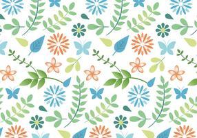 Flat Design Vector Spring Pattern