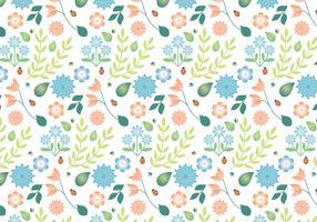 Flat Design Vector Spring Pattern Design