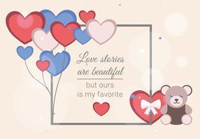 Postcard to Valentine's Day Vector Illustration