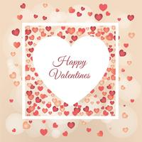 Postcard to Valentine's Day Vector Illustration