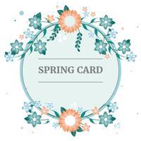 Flache Vektor-Frühlings-Gruß-Karte