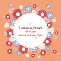 Flat Valentine's Day Vector Elements