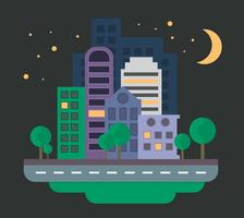Urban Landscape at Night vector