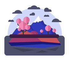 Diseño de paisaje plano