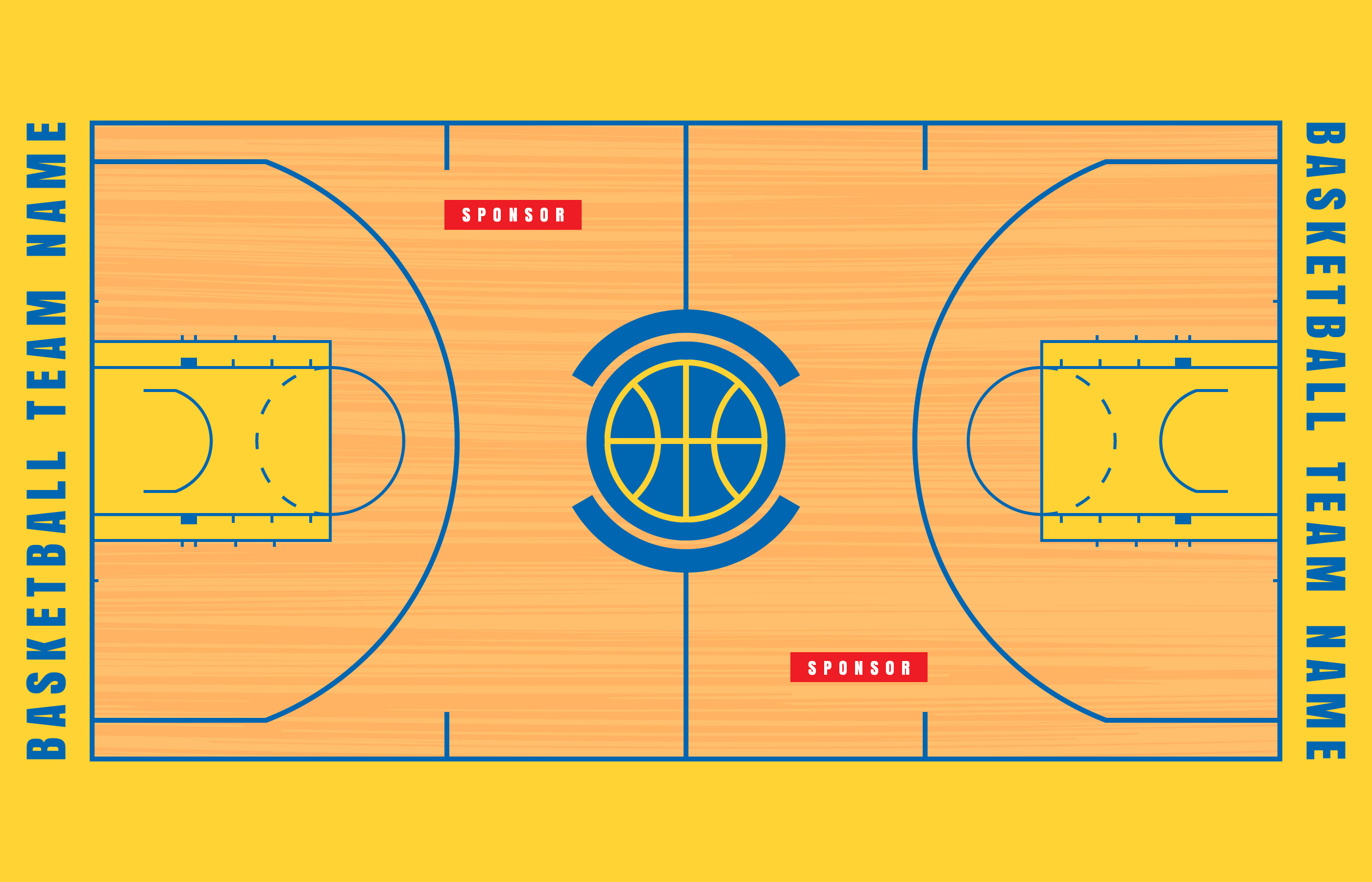 Basketball Court Floor Plan Illustration Download Free Vectors