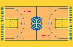 Basketball Court Floor Plan Illustration