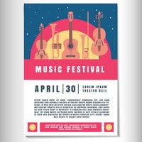 Music Poster Background Template vector