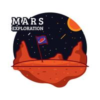 mars illustration d'exploration