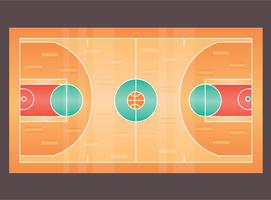 Basketball Court Isolated Vector