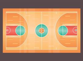 Vector aislado de la cancha de baloncesto