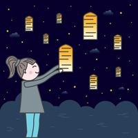 festival delle lanterne del cielo