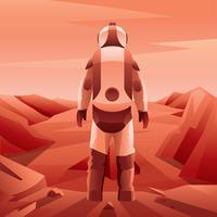 mars exploratie astronaut vector